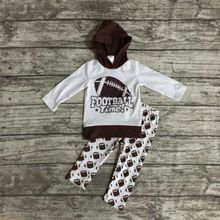 kids Fall clothes baby girls fooball clothing baby girls hoodie clothing girls football time outfits long pant clothing