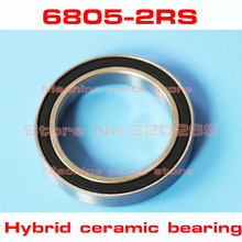 radial 6805 61805 6805RS S61805 2RS 25*37*7 25x37x7mm stainless steel hybrid ceramic ball bearing Si3N4 bike hub part