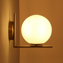 20cm Bubble glass ball wall light  modern  FLOS wall lamp  Italy designer iron wall lighting