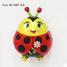 ladybird ladybug balloons helium inflatable birthday decoration balloons party supplies children kids baby birthday ballon(China)
