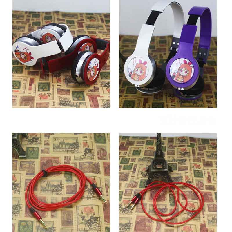 MLLSE Anime Naruto Cartoon Custom Logo Headphones Gaming Headset Stereo Headphones with Microphone for Mobile Phone Mp3 PC Gift