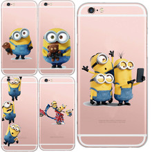 Latest Silicon Cover Despicable Yellow Minion Case For Apple iPhone 5 5s/6 6s Soft Clear Phone Cases Shell