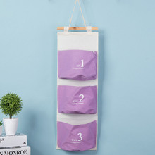 Washable  Wall Mounted 3 Pocket Storage Bags Bathroom Kitchen Supplies Fluid Systems Multilayer Pouch Groceries 3 D Collection