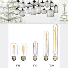 E27 COB LED Vintage Retro Edison Filament Antique Industrial Style T30-185 T30-225 T10 T45 Led Specialty Decorative Light Bulbs(China)