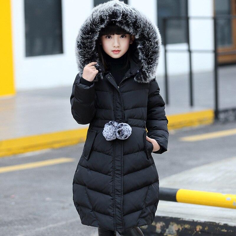 Thicken Infant Baby Girls Down 2018 New Winter Fur Collar Kids Coats Cotton Girls Parka Snowsuit Warm Children Clothing 3dp032<br>