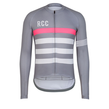 Top quality Racing cycling club Pink stripe cycling jerseys Pro team tight fit long sleeve cycling clothing bicycle shirt