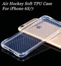 DHL Free Shipping Air hockey TPU Case Transparent Soft Cover Clear Skin Gel Anti-Shock Cover For iPhone 7 4.7(China)