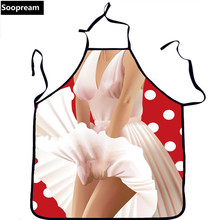 3d Print sexy uniform  Aprons funny Sexy dress woman Undies Printed Woman Men Funny Apron Kitchen Cooking Home BBQ party apron