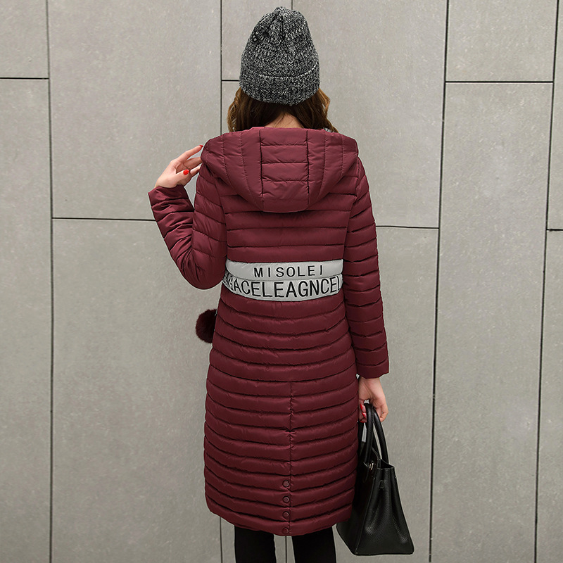 Women Long Winter Solid Color Korean New Slim Cotton Thick Women Jacket Cotton Hooded Warm Knee Length Jacket Coat MZ1693Îäåæäà è àêñåññóàðû<br><br>