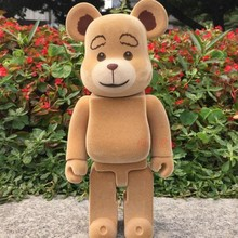 Cute Cartoon 28 CM Teddy Bear Action Figures High Quality PVC Bearbrick 400% Models Fashion Birthday Gifts Box Package Dj037