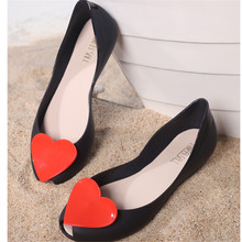2017 jelly shoes women candy summer luxury designer brazilian brand model love flower flat slip on shoes female beach shoes