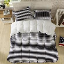 LUCKY TEXTILE black and white stripe bedding set duvet cover bed sheet polyester&cotton bed linen modern brief Spring bedding
