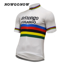 Custom pro team 2017 cycling jersey Retro old style clothing wear bike maillot ropa ciclismo NOWGONOW Breathable(China)