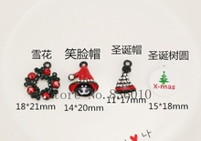New 20 pcs cartoon Christmas series Christmas hat Christmas tree pendant Charms DIY Jewelry Making Accessories gift M-44(China)