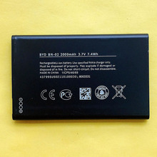 New High Quality Battery BYD BN-02 For Nokia XL XL 4G RM-1061 RM-1030 RM-1042 2000mAh Rechargeable Li-ion Mobile Phone Batteries