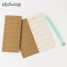 1PC Portable Weekly Plan Notebooks Retro Planner Diary Notepad Office Stationery Creative Gift(China)