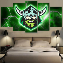 5 Pieces Canberra Raiders Oakland Raiders Sports Team Logo Oil Painting On Canvas Modern Home Pictures Prints Living Room Deco