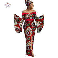 2019 autumn new plus size Maxi Dashiki african bazin riche dresses for women  clothing sexy party cotton dress 4xl other WY1767 d63db2a437f9