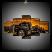 HD Printed Big truck Modern Wall Art Canvas Panel Print Painting Decorative Sunset Seascape Picture Home Decor