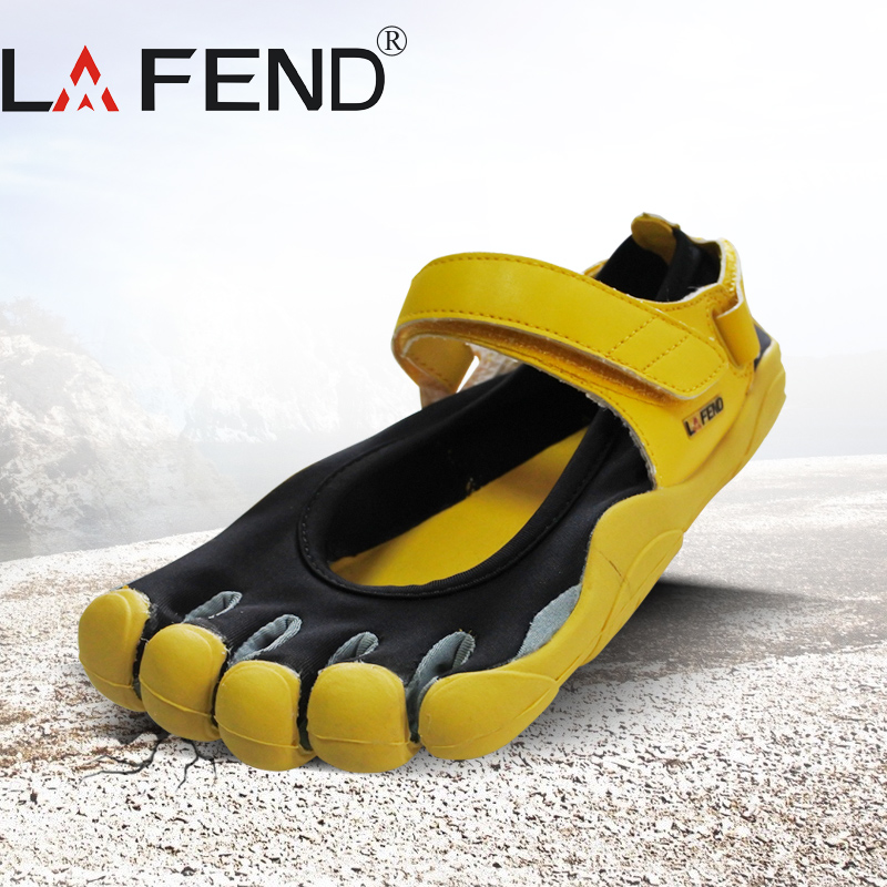 2017 LAFEND Sale China Brand Design with Five Fingers Outdoor Slip Resistant Breathable Lightweight Mountaineer Shoes for Women<br>