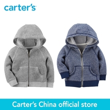 Carter's 1-Piece baby children kids clothing Boy Spring & Fall Zip-Up French Terry Hoodie 118I251/118I253(China)