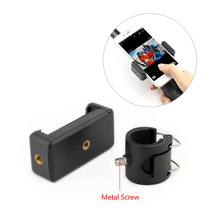 QIUNIU For GoPro APP Cell Phone Clip Adapter Mount Holder for GoPro Hero 4 3+ 3 SJCAM SJ4000 Monopod Pole
