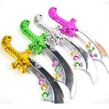 Halloween Pirate Broadsword Child Plastic Knife Sword Toy for Boy , Random Colour(China)