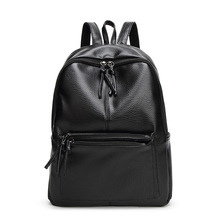 New Leather Travel Backpack Korean Classic Women Backpack Leisure Student Schoolbag Soft PU Leather Big Women Bag Large Capacity