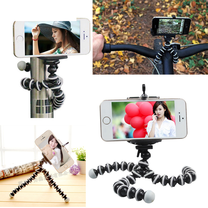 Universal Octopus MINI Tripod Stand Flexible Gorillapod Tripods Stander for GoPro Camera iPhone 6 6S Samsung Android Phone(China (Mainland))