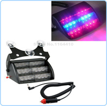 3*6 18 LED Car Emergency Vehicle Strobe Lights Windshields Dashboard Flash Warning with 3LED Suction Cups Red Bule Free Shipping