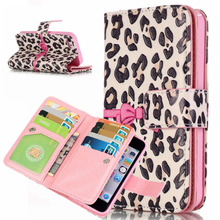 Coque For Apple iPhone 5 5s Case Leopard Wallet PU Leather Cover For iPhone SE Card Slot Magnetic Flip Stand Purse Fundas Case(China)
