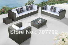 Modern outdoor furniture wicker sectional deeping seat
