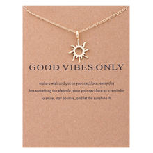 Buy XUSHUI Vibes Sun Gold color Pendant Clavicle Necklaces & Pendants Women Fashion Statement Necklace Jewelry 2017 for $1.59 in AliExpress store