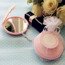 (DHL,UPS,Fedex)FREE SHIPPING+50pcs/Lot+Reflections Pink Pocket Mirrors Portable Compact Mirror Wedding&Bridal Shower Favors