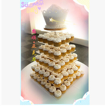 Large 6 Tier Wedding Party Square Cupcake Stand Cake  TowerDessert Display Stand