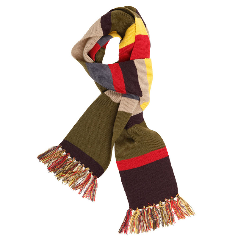 3.5M Doctor Who Colorful Scarf Police Booth Scarf For Adult Teenager Collection Gift Anime Soft Cashmere Winter Scarf<br>