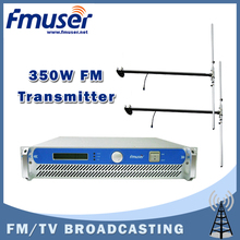 Free shipping FMUSER FSN-350 350w 2U Professional FM Broadcast RadioTransmitter exciter + 2 bay Dipole antenna + 20M 1/2'' CABLE
