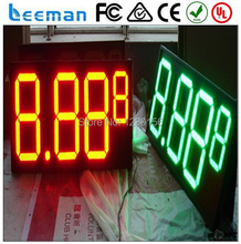 "leeman 10inch 12"" 8.888 outdoor led gas pricing signs,waterproof cabinet RF remote High quality front access mainstain led gas"