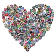 Buy 100pcs/lot Mixed Colors & pattern 12mm Glass snap button Jewelry Faceted glass Snap Fit snap Earrings Bracelet Jewelry for $16.99 in AliExpress store