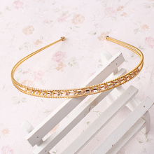 M MISM 1pc Women Double Layers Hairband Ladies Headband Shiny Rhinestone Girls Head Bands Hair Band Cloth Hair Accessories