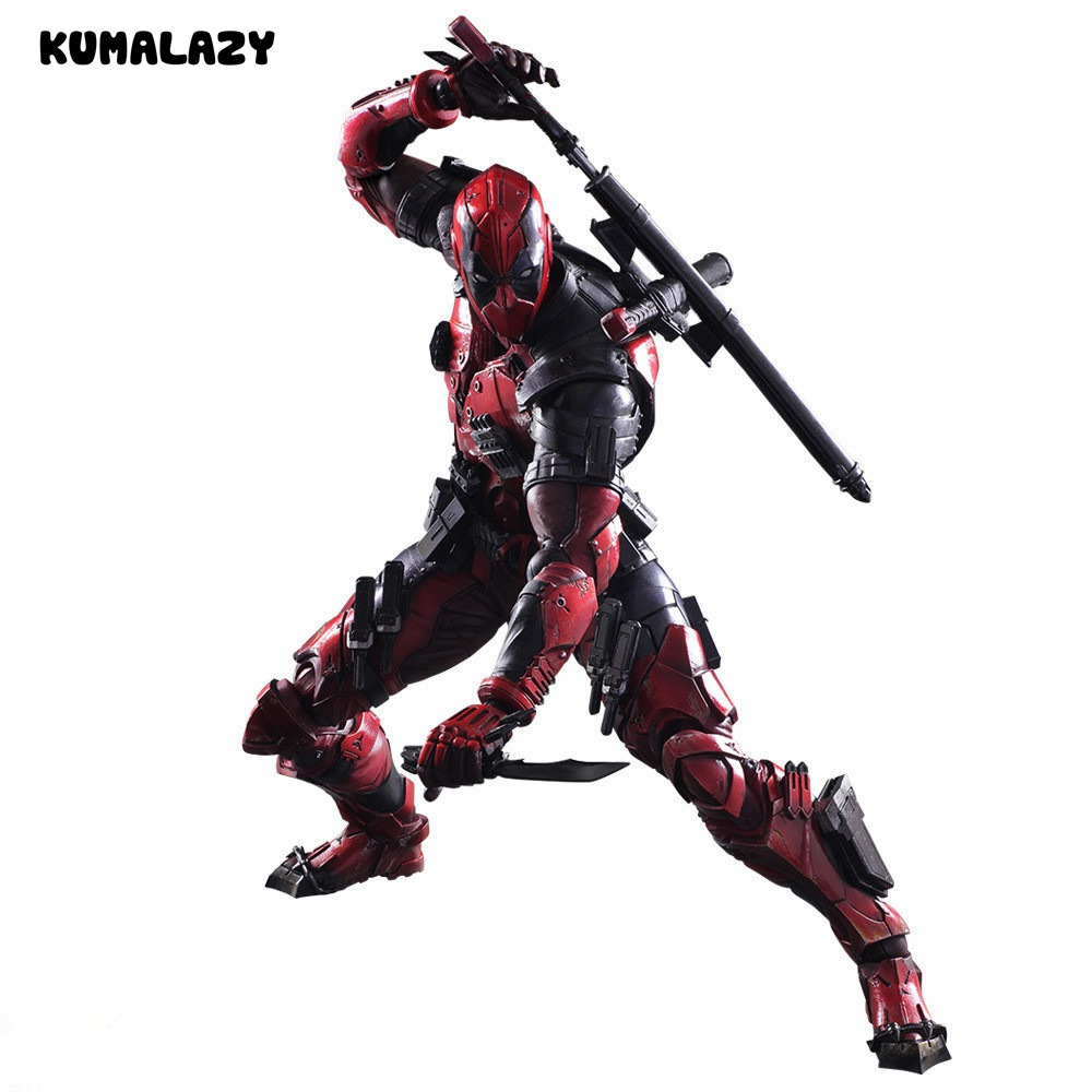 Deadpool Figure Wolverine X Men X-MEN Play Arts Kai Deadpool Wade Winston Wilson Play Art KAI PVC Action Figure 26cm Doll Toy<br>