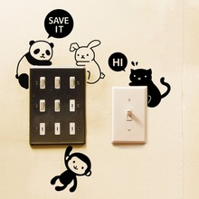1 Pcs Cartoon Dog Animal Eco Friendly Home Decoration Switch Sticker Wall Stickers for Kids Room