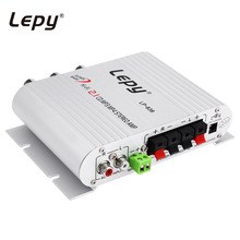 Lepy LP-838 Car Amplifier 12V Hi-Fi 2.1 Channel Stereo Subwoofer Audio Accessory Connect with DVD Player Phone MP3 MP4 Computer