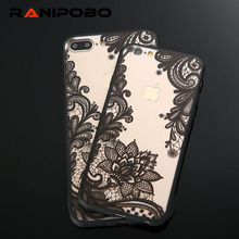 New Lace Retro Vintage Floral Flower Printed Soft Case For iPhone 7 7plus 6 6S 6Plus 5 5S Fashion Phone Cases Cover for iPhone7