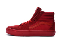 Original VANS classic Old Skool All red high help men's canvas shoes, Sports Shoes, Vans Fencing shoes size 40-44(China)