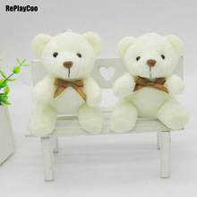 40Pcs/Lot Kawaii Small Joint Teddy Bears Stuffed Plush With Chain Sit Height 10CM Teddy-Bear Mini Bear Ted Plush Toys Gifts 0152