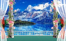 modern background wallpapers Custom 3d wall mural Snow mountain iceberg scenery living wall murals 3d abstract wallpapers