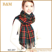 High Quality plaid Scarves 60x190CM plaid Printed pashmina Large Female Shawl Beautiful Women Scarf