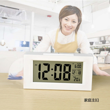YOHAPP Brand Large-Display Digital Led Alarm Clock With Backlight Calendar Electronic Desk Table Clock Desktop Led Clocks(China)