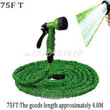 Hot sale! 75FT Rewindable and Anti-Corrosion Expandable Rubber hose Garden Water Hose Blue and Green Color +Spary Gun K403